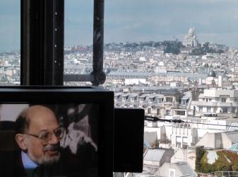 Allen Ginsberg in the Pompidou Center
