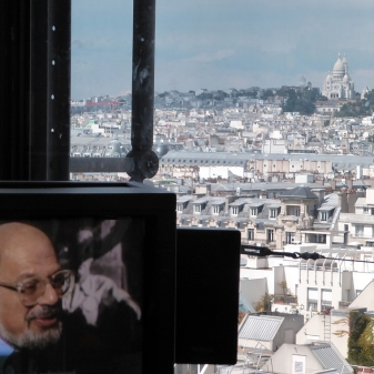 Allen Ginsberg in the Pompidou Center